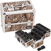 Just Case Usa Inc. Sunrise E3304LPBR Leopard Brown Pro Makeup Case