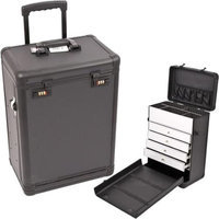 Just Case Usa Inc. Sunrise Black Dot Pattern Professional Rolling Makeup Case
