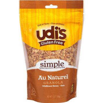 Udis Udi's Gluten Free Au Naturel Granola, 12 oz