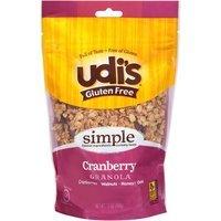 Udis Udi's Gluten Free Cranberry Granola, 12 oz