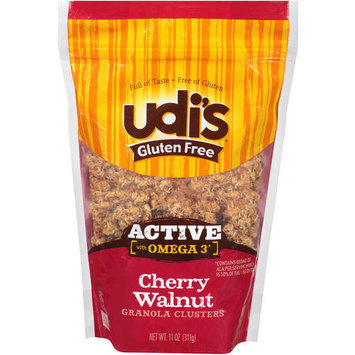 Udis Udi's Gluten Free Active with Omega 3 Cherry Walnut Granola Clusters, 11 oz