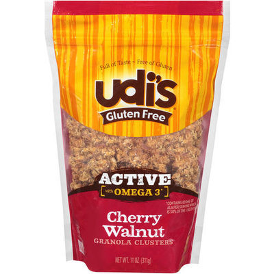 Udis Udi's Gluten Free Active with Omega 3 Cherry Walnut Granola Clusters, 11 oz