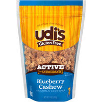 Udis Udi's Gluten Free Active with Antioxidants Blueberry Cashew Granola Clusters, 11 oz