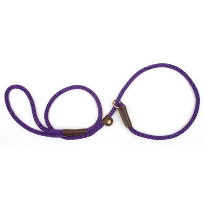Mendota Slip Dog Lead 4ft x 3/8in Purple