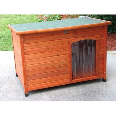 petsupplies.com Slant Roof Cedar Dog House