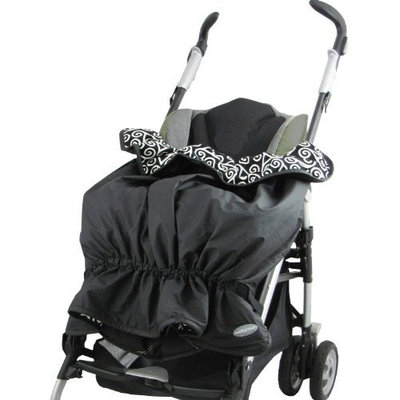 Triboro sootheTIME Cruisetime Snuggler Weather Resistant Stroller Blanket, Black (Discontinued by Manufacturer)