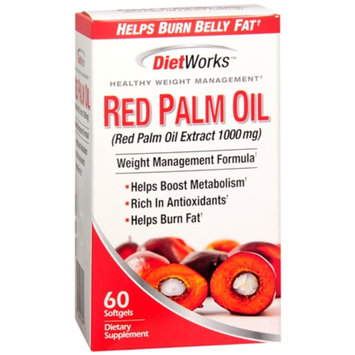 Diet Works Red Palm Oil Extract 1000mg, Softgels