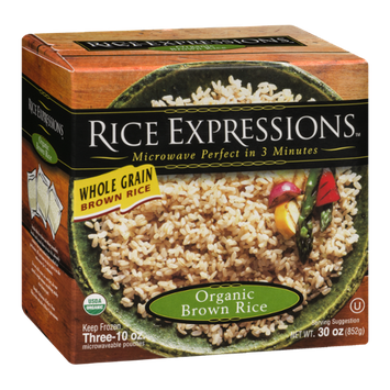 Rice Expressions Organic Brown Rice - 3 CT