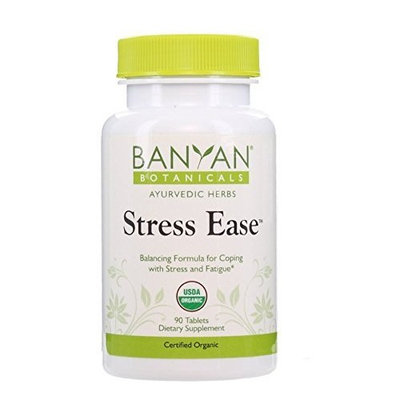 Banyan Botanicals Stress Ease - Certified Organic, 90 Tablets - Balancing Formula for Coping with Stress & Fatigue