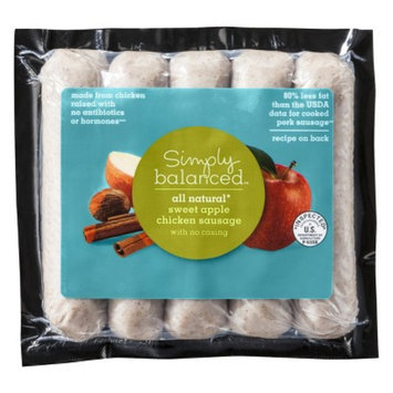 Simply Balanced All Natural Sweet Apple Chicken Sausage 5 ct