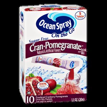 Ocean Spray On The Go Cran-Pomegranate Sugar Free Drink Mix- 10 CT