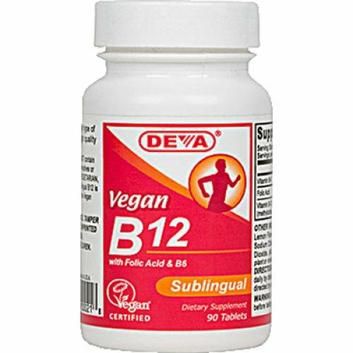 Deva Vegan Vitamins Deva Vegan B12 Sublingual 90 Sublingual Tablets