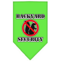 Mirage Pet Products 6603 LGLG Backyard Security Screen Print Bandana Lime Green Large