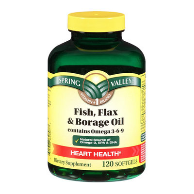 Spring Valley Fish/ flaxseed/ Borage Oil Contains Omega 3/6/9 Dietary Supplement 120 ct