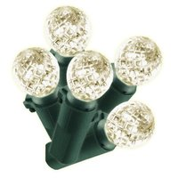 Philips 60ct Warm White LED Faceted Sphere String Christmas Lights