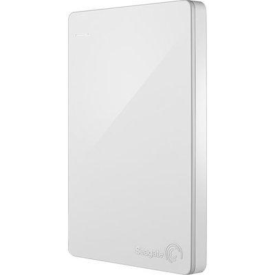 Seagate - Backup Plus Slim 2TB External USB 3.0/2.0 Portable Hard Drive - White