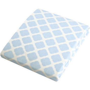 Kushies Baby Change Pad Fitted Sheet Blue Lattice