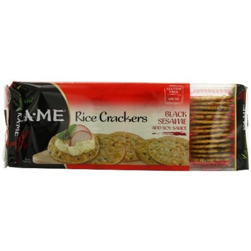 Ka-Me Rice Crackers, Black Sesame and Soy Sauce, 3.5 Ounce Packages (Pack of 12)