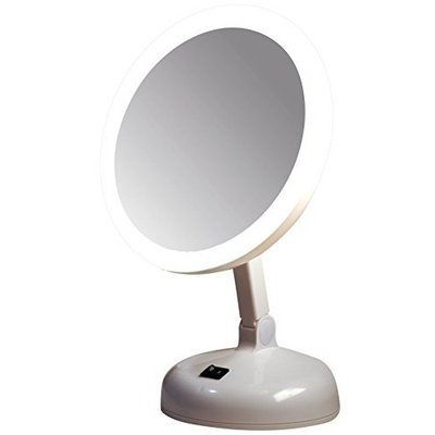 Floxite Fl-10jh 10x Incandescent Lighted Vanity Mirror, Pearl