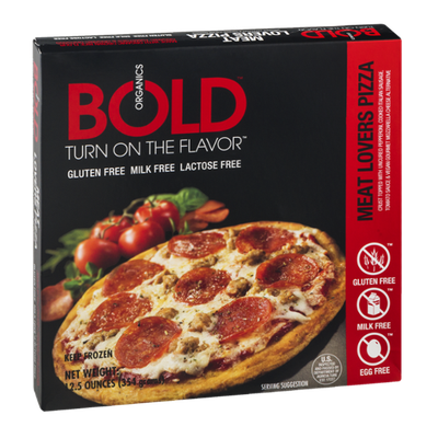 Bold Organics Gluten Free Pizza Meat Lovers