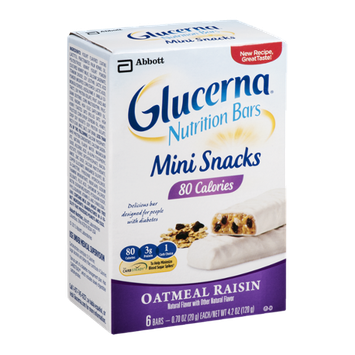 Glucerna Nutrition Bars Mini Snacks Oatmeal Raisin - 6 CT