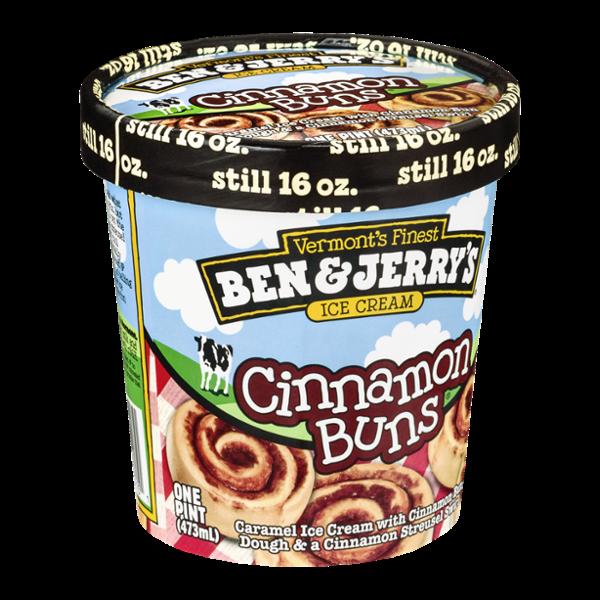 Ben & Jerry's Cinnamon Buns Ice Cream 16 oz