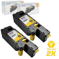 LD Set of 2 Compatible Toners to Replace Dell 332-0400 (5R6J0) Black Toner Cartridges for your Dell C1660w Color Printer