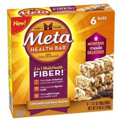 Metamucil Meta Cinnamon Oatmeal Raisin Bar - 6 Count