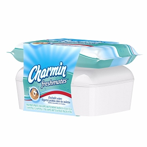 Charmin Freshmates Designer Tub & Refill Combo Pack Flushable Wipes