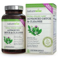Naturewise Total Colon Care: Advanced Detox & Cleanse with Digestive Enzymes for Colon Health & Weight Loss, 30 to 60-Day Supply, 60 Caps