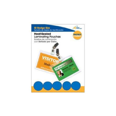 Royal Sovereign Heat Sealed Lamination Pouches ID Badges 2 9/16 x 3 3/4 Punched w/Clips 25 pack