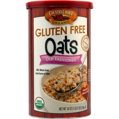 Country Choice Organic Gluten Free Oats Old Fashioned 18 oz