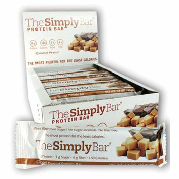 The Simply Bar Protein Bar Caramel and Peanut Case of 15 1.4 oz