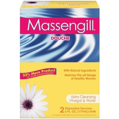 Massengill Extra Cleaning Disposable Douche, Vinegar and Water, 6-Ounce Douches in 2-Count Boxes (Pack of 6)