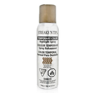 American International Streaks N Tips Temporary Color Highlight Spray Golden Blonde