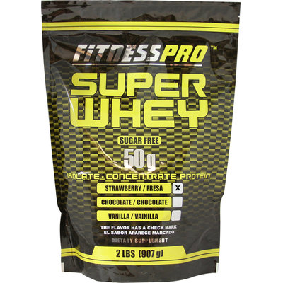 Fitness Pro Super Whey Strawberry-2 lbs-Strawberry-Powder