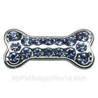Mirage Pet Products Slider Bone Charm for Pets, 3/8-Inch, Light Blue