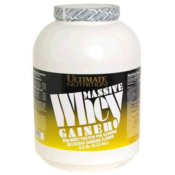 Ultimate Nutrition Massive Whey Gainer, Delicious Banana, 9.4 Pound