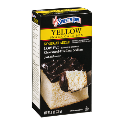 Sweet 'N Low Yellow Snack Cake Mix No Sugar Added Low Fat