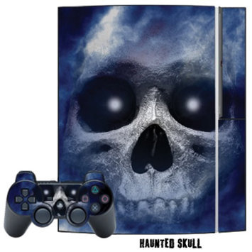MightySkins Playstation 3 Skin - System Console Skin and two PS3 Controller Skins - Haunted Skull