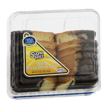 Hill & Valley Marble Sliced Creme Cake Sugar Free