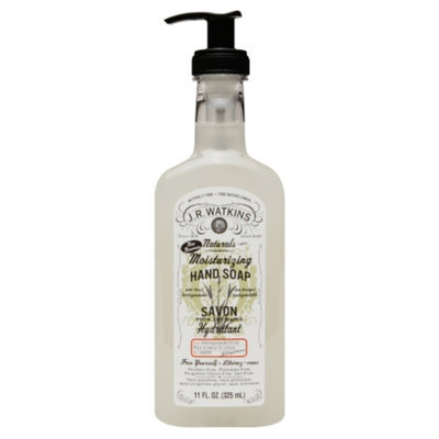 J.R. Watkins Naturals Moisturizing Hand Soap, Sweet Grass & Citron, 11 fl oz