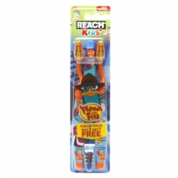Reach Children's Disney Phineas and Ferb Soft Value Pack Youth Toothbrushes, 2 ea