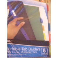 Wexford 5 Insertable Tab Dividers (Multicolor Paper, Multicolor Tabs)
