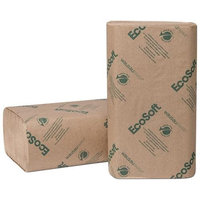 Wausau Paper EcoSoft Folded Towels, Natural