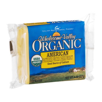 Wholesome Valley Organic American Cheese Slices - 12 CT