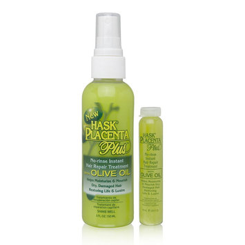 Hask Placenta No-Rinse Instant Hair Repair Treatment with Olive Oil