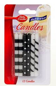 Betty Crocker™ Black & White Birthday Candles