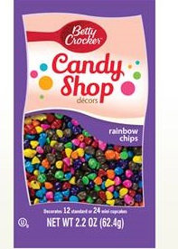 Betty Crocker™ Candy Shop Decors Rainbow Chips