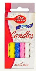 Betty Crocker™ Large Rainbow Spiral Birthday Candles